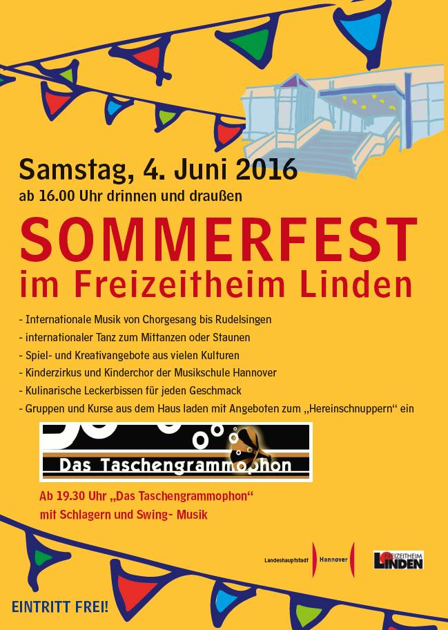 Sommerfest im Freizeitheim Linden 2016