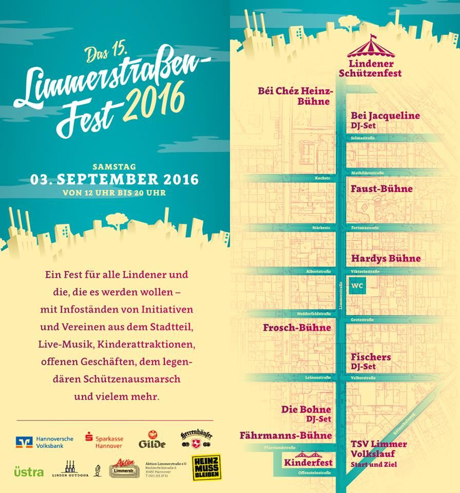 Limmerstraßenfest 2016 Übersicht
