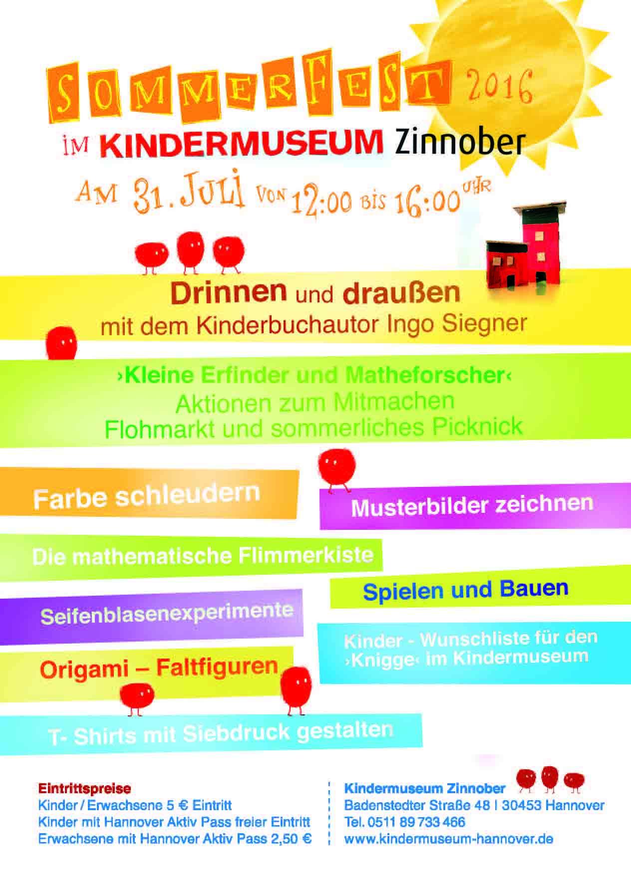 Sommerfest im Kindermuseum