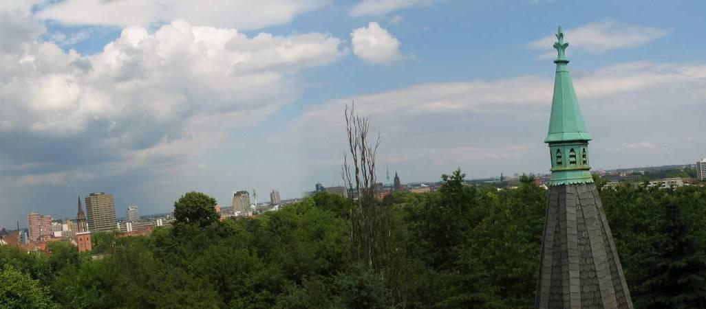 Panoramablick vom Dach des Wasserhochbehälters 2004