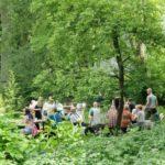 Garten Eden hinter dem Gemeindehaus