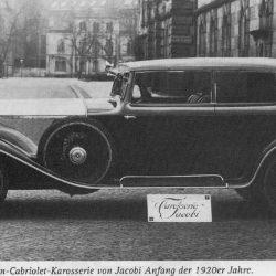 Rolls-Royce mit Sedan-Cabriolet-Karosserie von Jacobi Anfang der 1920er Jahre