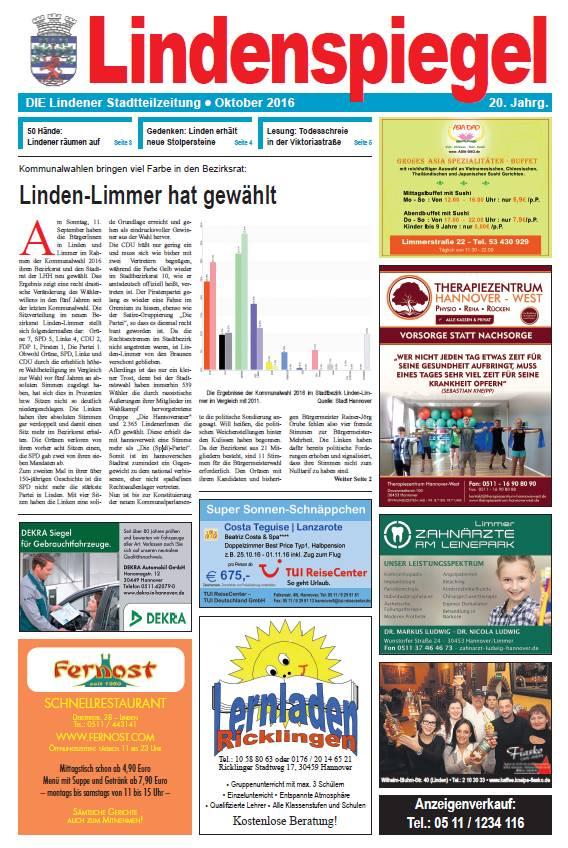Lindenspiegel Oktober 2016