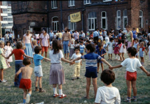 Sommerfest der Internationalen Mietergruppe Linden-Nord, 1983 (Bild: Archiv E. Barkhoff)
