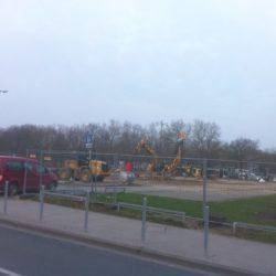 Ehemaliger Parkplatz am Siloah - Hier entsteht das neue Sportzentrum