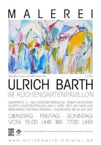 Malerei von Ulrich Barth im Küchengartenpavillon