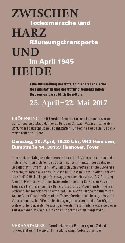 Zwischen Harz und Heide - Todesmärsche und Räumungstransporte im April 1945