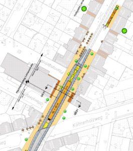 Planungen für den Hochbahnsteig Leinaustraße