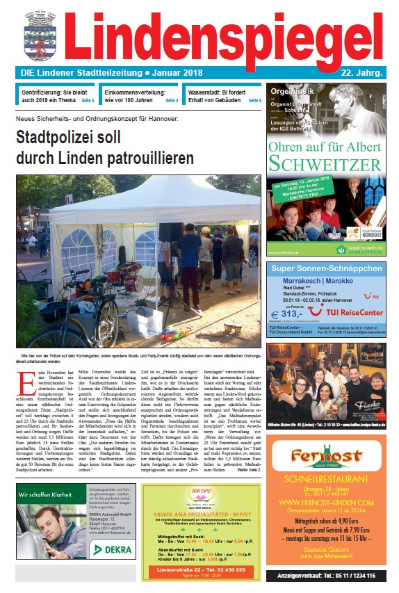 Linden entdecken das stadtteilinfo portal for Spiegel 01 2018