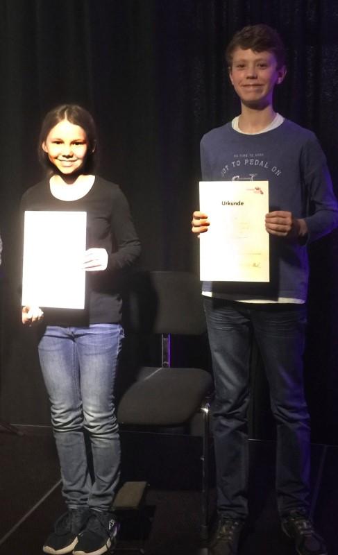 Kira Proske (17 Punkte/Mit gutem Erfolg teilgenommen), Juri Schlitt (20 Punkte/Mit sehr gutem Erfolg teilgenommen), Simon Startsev (13. Punkte/Mit Erfolg teilgenommen 'nicht im Bild').