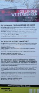 Plakat - IGS Linden weiterdenken