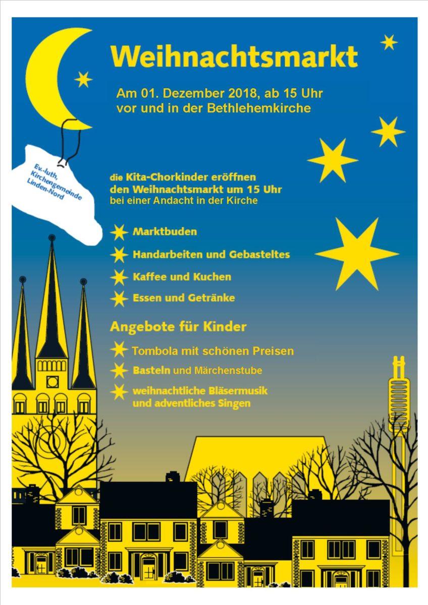 Weihnachtsmarkt der ev.-luth. Kirchengemeinden Linden - Nord