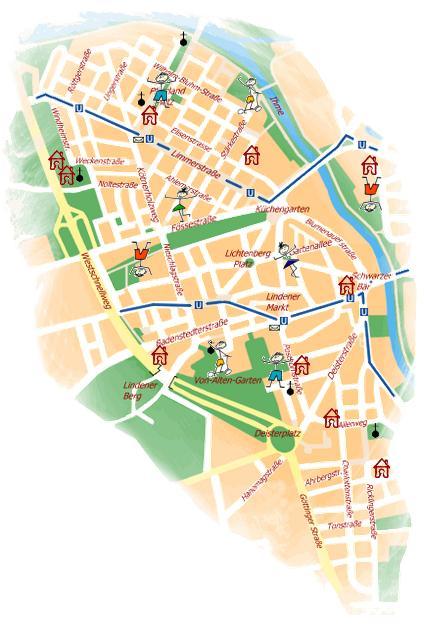 Stadtplan Linden