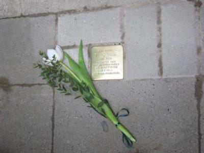 Einer der Stolpersteine in Linden-Limmer für Franz Nause