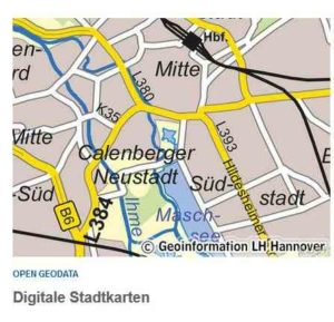 Neuauflage Stadtkarte Hannover