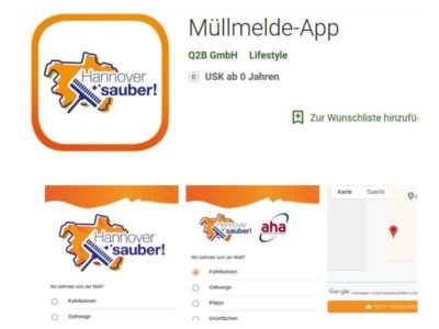Müllmelde-App gestartet