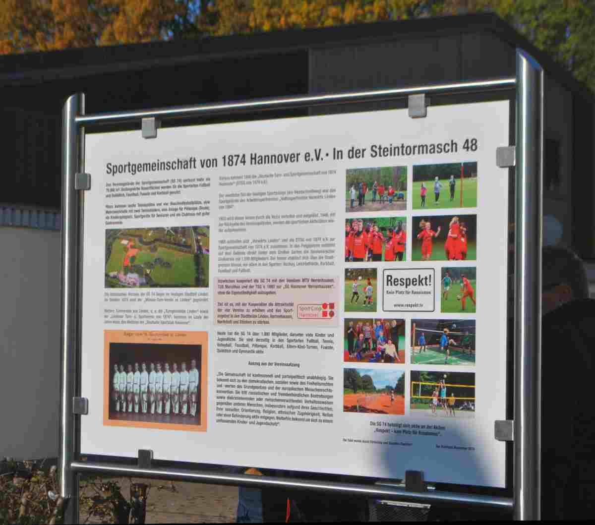 SG 1874 Informationstafel