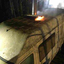 Brand eines Transporters auf dem Gelände PLATZprojekt e. V.