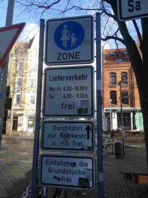 Fußgängerzone Schild