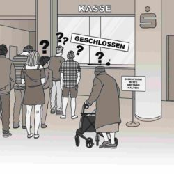 Sparkasse Falkenstraße: 263 Unterschriften für Erhalt der Bargeldkasse