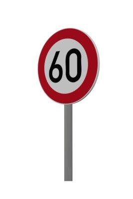 Höchstgeschwindigkeit 60 km/h