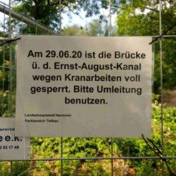 Ernst-August-Kanal Baustelle