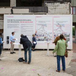 Info-Fenster zur Bürgerbeteiligung Durchwegung Ihme-Zentrum