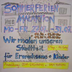 Sommerferienaktion: Wir malen und zeichnen unseren Stadtteil