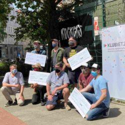 Übergabe der Erlöse der Spendenaktion an Lindener Clubs