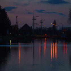 Blick vom Eichenbrink bei Nacht