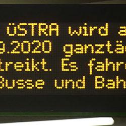 Streik bei der Üstra – am Dienstag fahren keine Busse und Bahnen