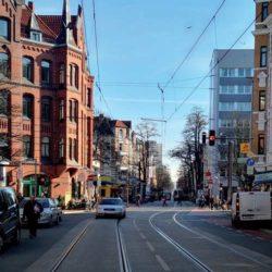 Hier soll auch einer hin: Geplanter Standort für den Hochbahnsteig Leinaustraße/Offensteinstraße