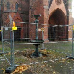 Brunnenbaustelle Erlöserkirche