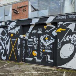 Graffiti auf dem Faustgelände
