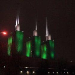 Heizkraftwerk in Silvesternacht 2019