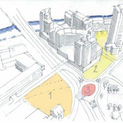 Das heutige Verkehrskonzept für den Bereich Küchengarten/Ihmezentrum geht größtenteils auf die 1960er Jahre zurück. Jetzt werden neue Ideen für einzelne Flächen gesucht.
