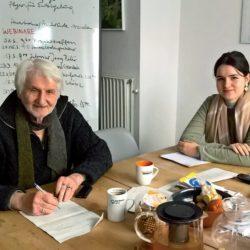 Das Gesicht des BUND in Linden: Gerd Wach mit Praktikantin Hanna Setzkorn.