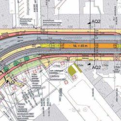 Nummer eins: Die Ausbauplanung für den Hochbahnsteig der Stadtbahnhaltestelle Ungerstraße