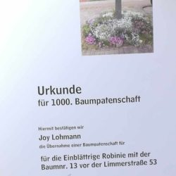 Baumpatenschaft Joy Lohmann