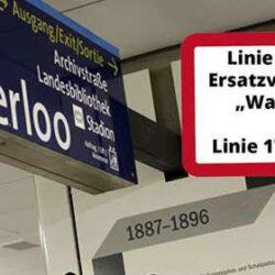 Einschränkungen bei den Stadtbahnlinien 3, 7, 17 ab dem 13. Mai