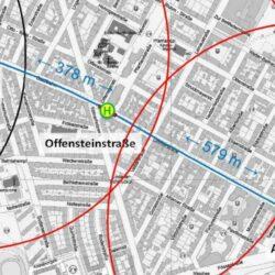 Geplante Standorte der Hochbahnsteige Limmerstraße