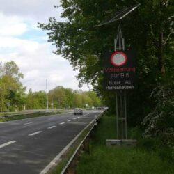 Westschnellweg B6 Vollsperrung