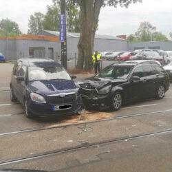 Verkehrsunfall im Bauweg mit einer verletzten Person