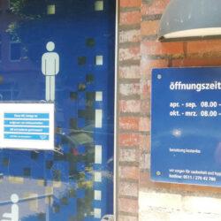 Ohne Ankündigung: WC am Pfarrlandplatz bis auf weiteres geschlossen