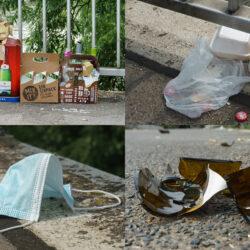 Dornröschen-Cleanup -Abfall Kollage