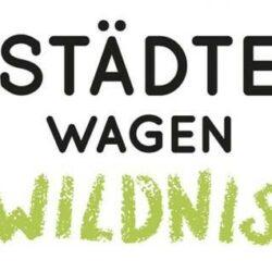 'Städte-wagen-Wildnis' Schriftzug