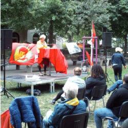 Hanna Legatis auf Halim-Dener-Platz