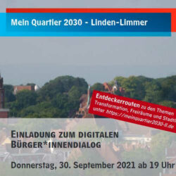Start Bürger*innenbeteiligung – Mein Quartier 2030 – Linden-Limmer